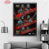 wtnhz Senza Telaio NT UFC Conor McGregor vs Cowboy Cerrone Game Event Poster Stampa Pittura Wall Art Canvas Picture Living Room Room Decor