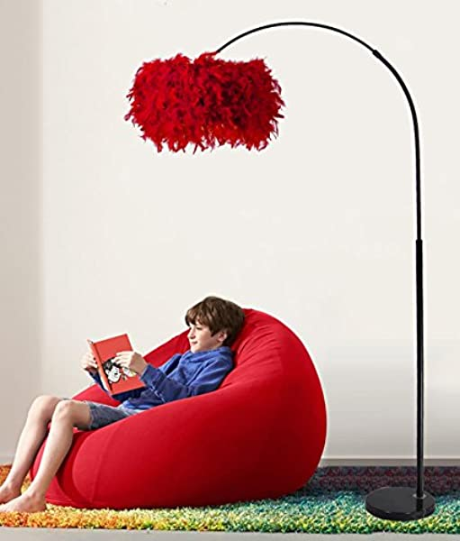 WENBO Home Floor Lamp Fishing Lamp Living Room Bedroom Study Vertical Bedside Lamp Creative Nordic Decoration Table Lamps Floor Lamp Color Red