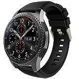 TiMOVO Pulsera para Samsung Gear S3 Frontier/Galaxy Watch 46mm, Pulsera de Silicona, Correa de Reloj Deportivo, Banda de Reloj de Silicona - Negro