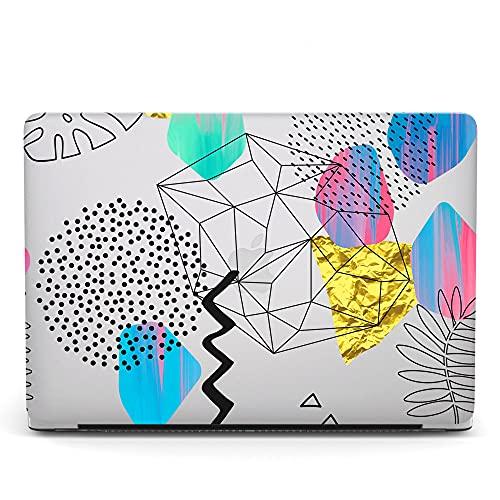 Custodia Rigida Compatibile con MacBook PRO 15 Pollici A1398 (Versione 2015 2014 2013 2012), Plastica Copertina Caso Duro Protettiva per MacBook Pro Retina 15,4 - Geometria Semplice