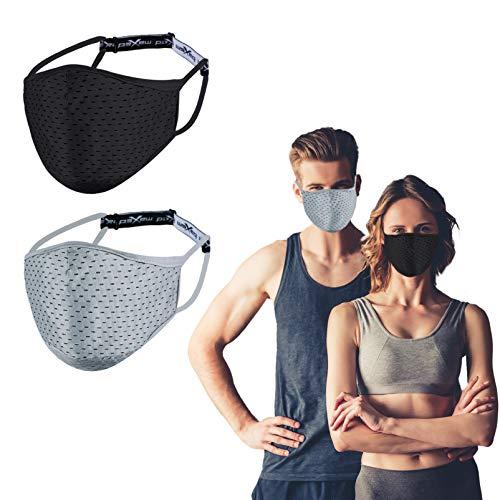 Moger Mascherina Sportiva Allenamento Lavabile Riutilizzabile, Respirabile per Uomo e Donna, Comoda Prottetiva...