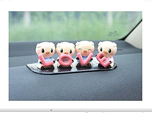 SwirlColor Nettes Auto-Dekoration reizende kleine Schwein Innenraum passt das Auto EIN Schweinchen Dekoration Auto-Styling Piggy 4pcs / Set