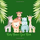 Baby Shower Guest Book: Jungle Safari Cute Animals, Sign in Welcome Baby Guestbook with Address, Predictions, Advice for Parents, Wishes, Bonus Photo & Gift Log