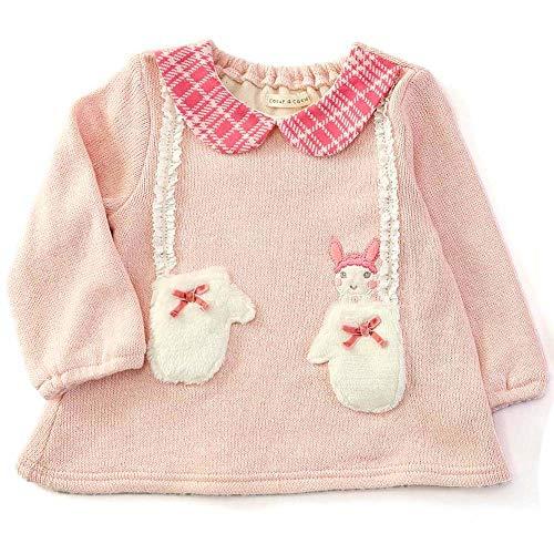 『coeur a coeur (クーラクール) トレーナー (70~100cm) キムラタンの子供服 (44419-184) ピンク 80』の3枚目の画像