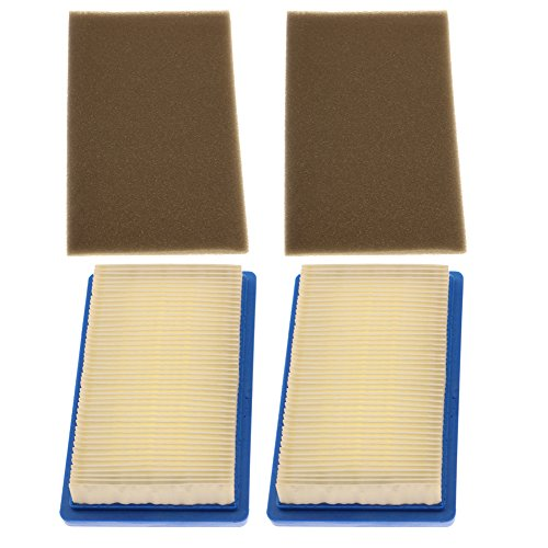 Hipa (Pack of 2 17218-ZG9-M00 Air Filter + Pre Filter for Honda GXV140 HR215 HRB215 HRC215 HRM195 HRM215 Lawn Mower