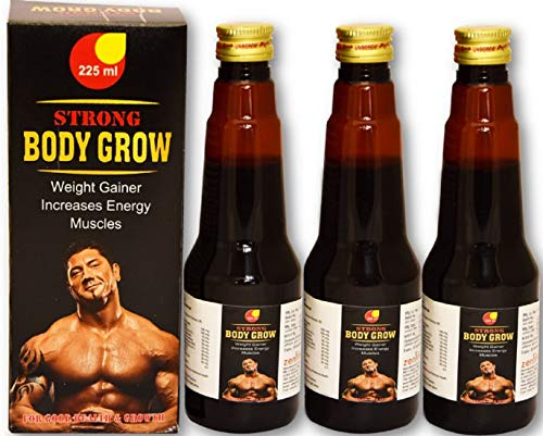 Afflatus Herbal Strong Body Grow Tonic || Weight Gain & Body Growth Formula- (3 x 225ml)