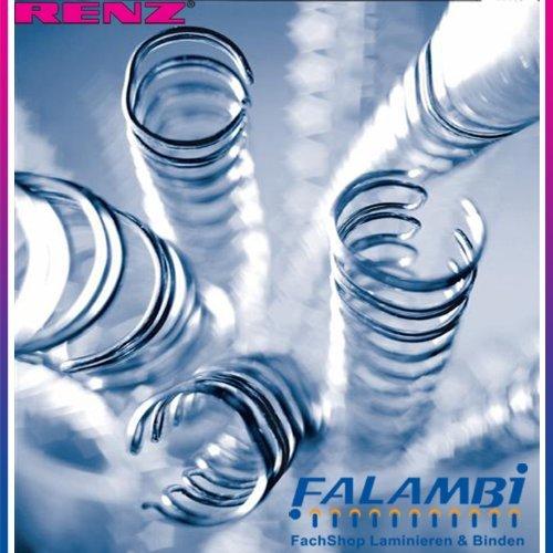 50 RENZ Drahtbinderücken 16.0 mm, bis max. ca. 135 Blatt, silber blank(metall)