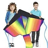 Grande Aquilone Arcobaleno Ideale per Bambini e Adulti...