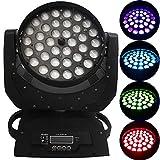 BuoQua Luz de Escenario Cabeza Móvil 36x10W RGBW (4 en 1) Focos de Iluminación de Escenario 4...