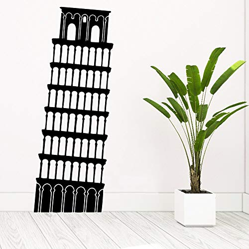 mlpnko Kreative schiefe Turm von Pisa Wandaufkleber Selbstklebende Tapetenaufkleber Home Decoration Decals 45X115cm
