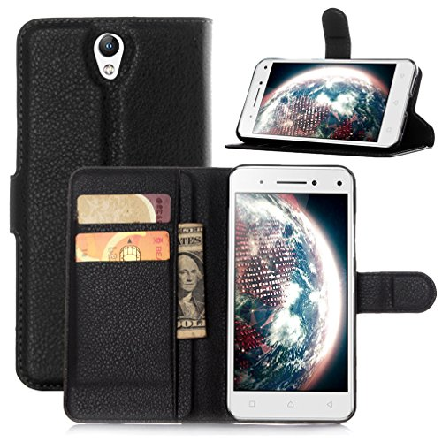 NEKOYA Lenovo Vibe S1 Hülle,Lenovo Vibe S1 Lederhülle, Handyhülle im Brieftasche-Stil für Lenovo Vibe S1.Schutzhülle mit [TPU Innenschale] [Standfunktion] [Kartenfach] [Magnetverschluss]