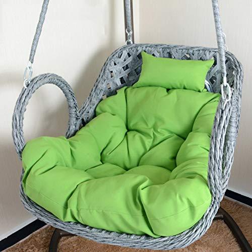XFXDBT Swing Bench Cushion Espesar Cojín De Silla De Hamaca De Huevo Mullido Cojín De Silla De Cesta Colgante para Patio Jardín (La Silla No Está Incluida)-Verde 100x85cm(39x33inch)