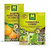 MASSO GARDEN Pack FRUTALES (Aceite INSECTICIDA ACARICIDA 250ml + FUNGICIDA Cobre 50g)