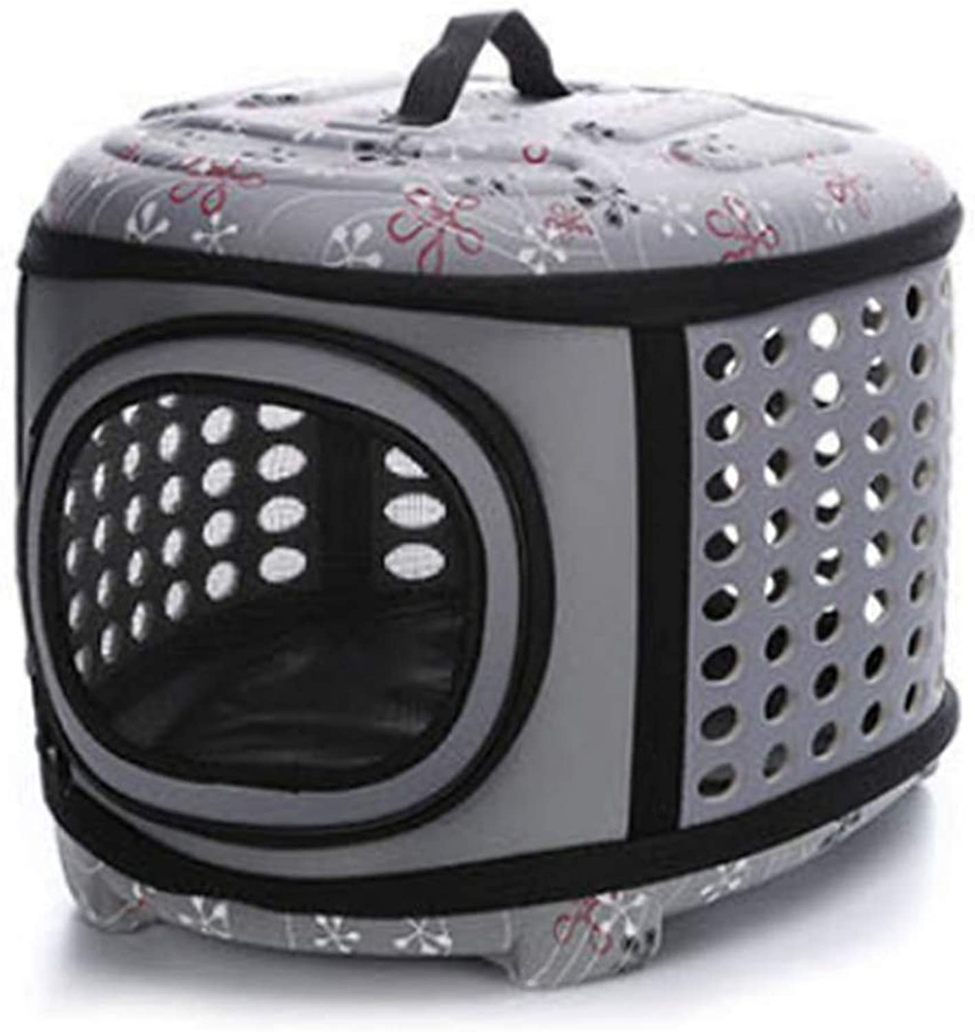 Pet Carrier Travel Bag for Small Dogs and Cats Hard Cover, Collapsable Portable,Traveling Pet Handbag Kennel House for Dog Cats,B