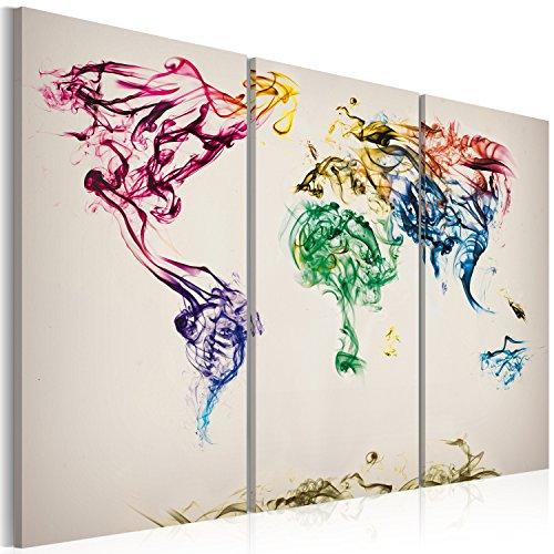 murando - Cuadro en Lienzo 120x80 - Impresión de 3 Piezas Material Tejido no Tejido Impresión Artística Imagen Gráfica Decoracion de Pared Mapa del Mundi 020113-41
