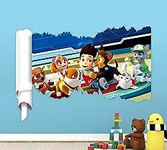 Paw Patrol Dogs Wall Decal Stickers 3d Cartoon Puppy Patrol Dog Children Living Room Wallpaper