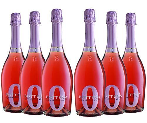 Bottega Sparkling Zero Rose Bottega - Pacco da 6 x 750 ml