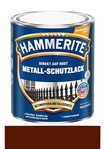 750 ml Hammerite Direkt auf Rost Metall-Schutzlack Braun, Matt