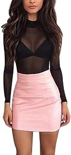 Short Skirt, Howstar Women's Bandge Leather High Waist Pencil Skirt Bodycon Hip Mini Skirt