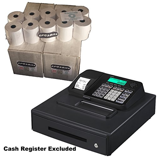 eposbits® marca rollos para que se ajuste a Casio se-s100 SES100 SES se S100 100 negro caja registradora rollos grandes Draw – 40: Amazon.es: Oficina y papelería