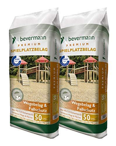 Floragard Bevermann Spielplatzbelag und Fallschutz 2x50 L • Spielplatz- und Wegebelag • naturreine Holzhackschnitzel • 100 L