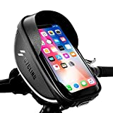 Bike Phone Pouch Bike Bag For Iphone 12 11 Pro 7 8 Plus, Phone Case For Cycling, Touch Screen Waterproof Bicycle Phone Mount Bag Front Frame Handlebar Bag, Biking Accessories Bag For Phones Below 6.5'