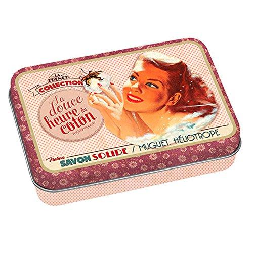 Jabon de Marsella con Caja Metalica Vintage Aroma HELIOTROPO 100gr 611280 7102
