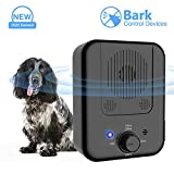 Queenmew Ultrasonic Anti Dog Barking Device, Rechargeable Sonic Bark Deterrents, Waterproof Stop Bark Repeller...
