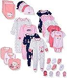 Gerber Baby Girls' 30-Piece Essentials Gift Set Layette, Pink Fox, Newborn
