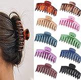 10 Stück Große Haarklammer, 11cm Vintage Einfache Klaue Clips Rutschfest Haarspangen,...