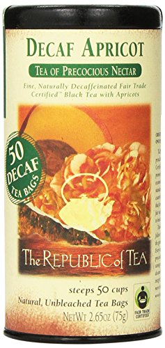 The Republic of Tea, Apricot Decaf Tea, 50 Count