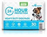 Paw Inspired Heavy Duty 24hr Protection Large Adhesive Puppy Pads | Extra Thick, Super Absorbent Dog Pee Pads for Puppy Training, Incontinence, and Beyond (Large, 30 Count)