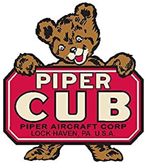Piper Cub Sticker for Cars | 5 - Sizes Window Decal Poster Banner | Piper Cub Patch Velcro