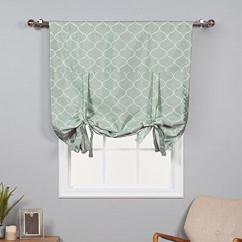 home fashion shades Best Home Fashion Faux Silk Blackout Quatrefoil Shade - Tie-up - Mint - 42