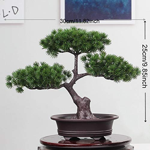 Simulatie bonsai ornamenten nep boom pot grote gastvrije pijnboom plastiek nep plant simulatie dennen indoor decoration: 9