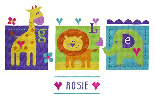 The Stitching tornillo central Jungle Babies juego de punto de cruz