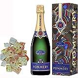Champagne Pommery - Brut Royal en caso nougadets y 150 g de galletas - Jonquier Two Brothers
