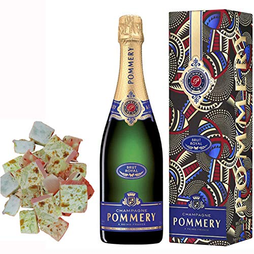 Champagne Pommery - Brut Royal in caso nougadets e 150g di biscotti - Jonquier Two Brothers