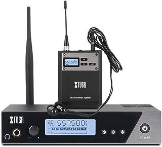 XTUGA IEM1100 UHF - Sistema de monitor de oído inalámbrico de frecuencia seleccionable para escenario, estudio, exposició...