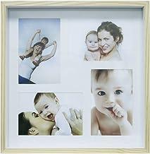 Painel Color Wood Para 4 Fotos 10X15cm Kapos Natural/Branco
