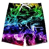 Idgreatim Nette Kinder Jungen Badehose 3D Amercian Flag Drucken Schnelle Trockene Strand Shorts