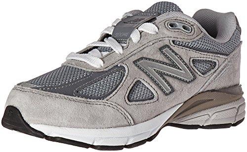 New Balance Kid's KJ990V4 Running Shoe Sneaker, Grey/Grey, 4 M US Big Kid