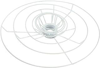 LQCN Anillo de Marco de Pantalla Circular 9.5/11/12/14/20/30 / 40cm Diámetro de la lámpara Sombra de luz Juego de fabricación de Bricolaje Hierro E27 Marco de Pantalla, 12cm