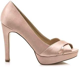 633e97f8 MARIA MARE Zapatos de Salón Para Mujer, Abiertos EN La Puntera, Color Nude,