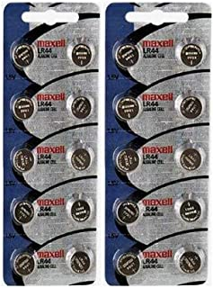 2 X 10 pack MAXELL AG13 LR44 357 button cell battery Hologram (20 Batteries Total)