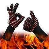 Lot de 2 Gants de four Hauts de Gamme pour jusqu'à 500 °C, Protection douce et...
