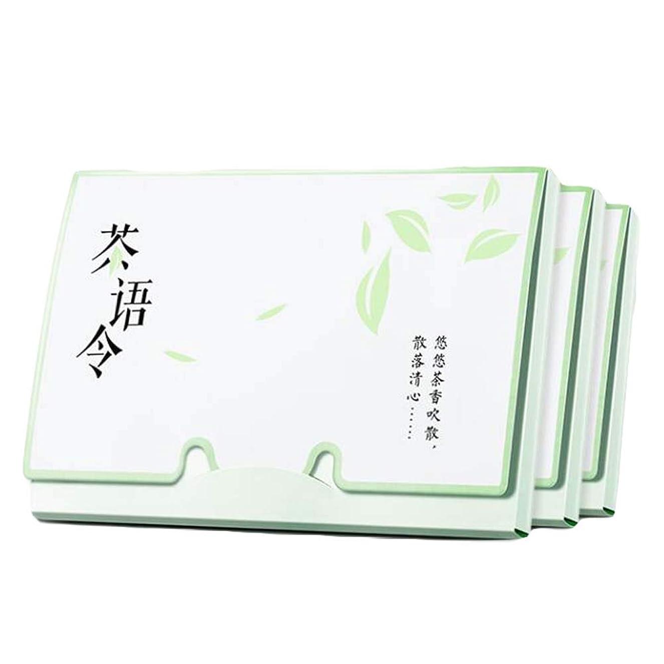 ファイバ動脈コンサルタント緑茶女性顔オイル吸収シート、300枚