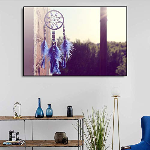 ganlanshu Leinwand Kunstdekoration hängende Kunst Ornament Poster Bild Moderne Wanddekoration Familie Wohnzimmer Dekoration,Rahmenlose Malerei,60x90cm