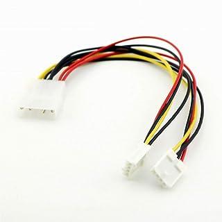 كابلات ووصلات الكمبيوتر - 1 قطعة 4 دبوس موليكس إلى Duál 4 Pin Floppy PC Power Y Splitter ádápter موصل قابل للكابل المرن FD...
