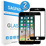 SAGPAD [2 Piezas] Cristal Templado para iPhone 6/ 6s, Cubierta Completa Vidrio Templado 9H Protector Pantalla Premium, Anti-Huella Digital, Anti-Burbujas par 6/6s (Negro)